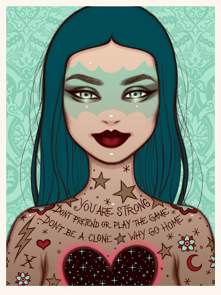 """The Blot Says...: """"You Are Strong"""" Screen Print by Tara McPherson x ..."""